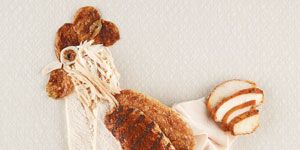 Toy, Beige, Creative arts, Fawn, Costume design, One-piece garment, Craft, Dinosaur, Stuffed toy,
