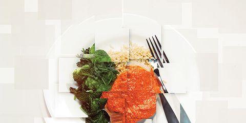Dishware, Food, Ingredient, Cuisine, Tableware, Meat, Garnish, Plate, Dish, Recipe,