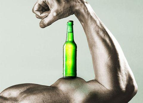 bottle, green, water, glass bottle, alcohol, hand, joint, muscle, wine bottle, finger,