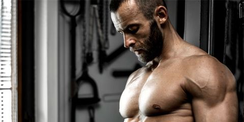 Hairstyle, Skin, Human body, Chin, Chest, Shoulder, Barechested, Joint, Standing, Physical fitness,