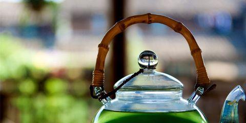 Green, Serveware, Liquid, Fluid, Lid, Dishware, Still life photography, Green tea, Transparent material, Teapot,
