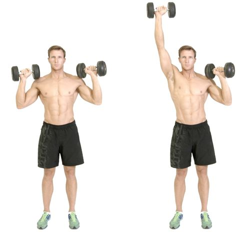 how to shoulder press