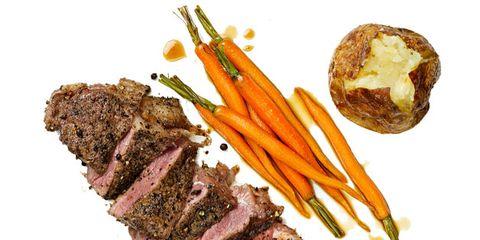 Food, Beef, Ingredient, Cuisine, Pastrami, Pork, Steak, Meat, Flat iron steak, Root vegetable,