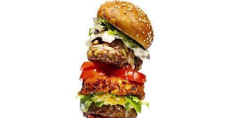Finger food, Sandwich, Food, Cuisine, Produce, Ingredient, Vegetable, Leaf vegetable, Dish, Hamburger,