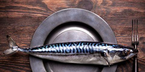 Fish, Fish, Ray-finned fish, Kitchen utensil, Mackerel, Silver, Marine biology, Cutlery, Fin, Tail,