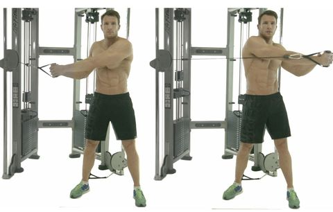 Shoulder, Exercise equipment, Strength training, Gym, Standing, Arm, Free weight bar, Joint, Leg, Physical fitness,