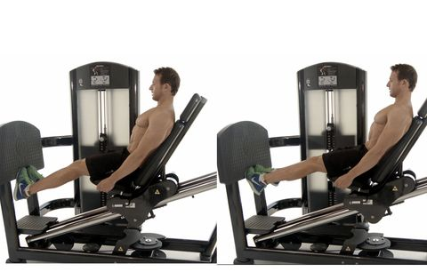 Gym, Physical fitness, Exercise equipment, Leg extension, Exercise, Leg, Room, Human leg, Exercise machine, Sport venue,