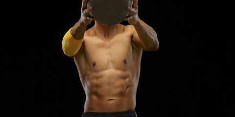 Shoulder, Elbow, Standing, Joint, Barechested, Trunk, Muscle, Chest, Abdomen, Neck,
