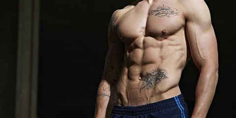 Skin, Shoulder, Joint, Chest, Trunk, Barechested, Abdomen, Muscle, Back, Tattoo,