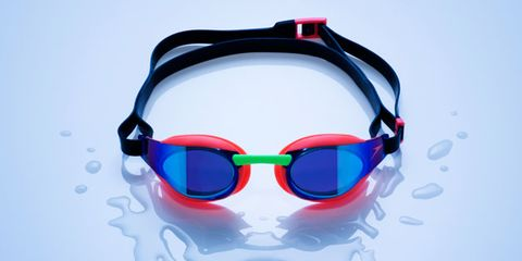 Eyewear, Vision care, Audio equipment, Goggles, Red, Personal protective equipment, Technology, Colorfulness, Eye glass accessory, Audio accessory,