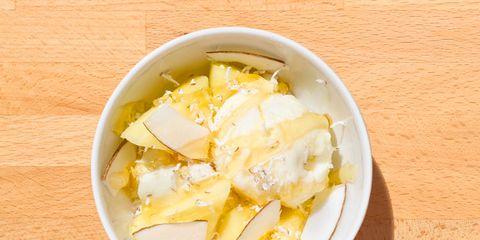 Food, Wood, Yellow, Cuisine, Ingredient, Tableware, Hardwood, Recipe, Dish, Dishware,