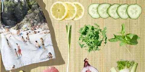 Ingredient, Produce, Vegetable, Leaf vegetable, Flowering plant, Natural foods, Root vegetable, Citrus, Onion, Illustration,