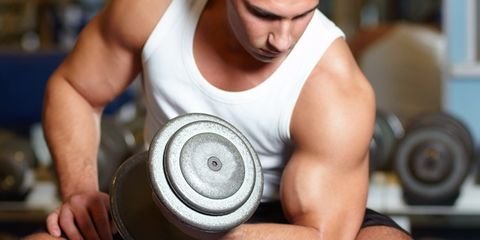 Skin, Undershirt, Joint, Sleeveless shirt, Chest, Muscle, Physical fitness, Wrist, Active tank, Exercise,