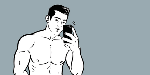 Muscle, Shoulder, Arm, Standing, Joint, Cartoon, Illustration, Chest, Barechested, Neck,