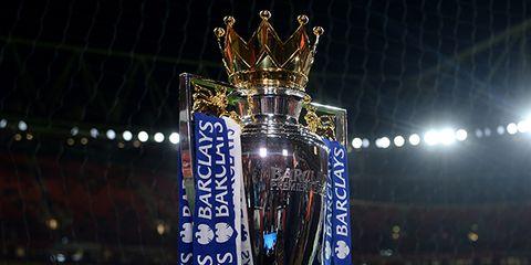 Trophy, Light, Stadium, Majorelle blue, Award, Advertising, Banner, Fan, Arena, Artificial turf,