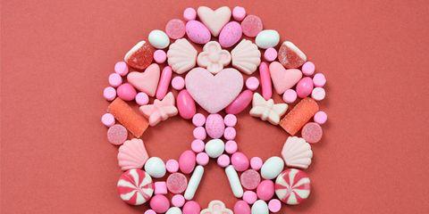 Pink, Organ, Heart, Pattern, Love, Peach, Illustration, Valentine's day, Polkagris,