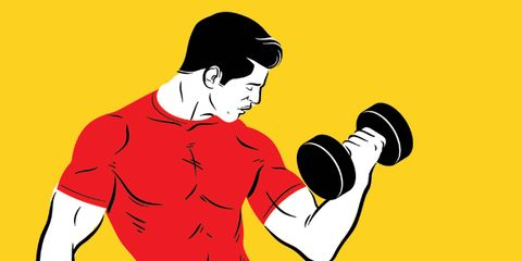 Dumbbell, Cartoon, Muscle, Arm, Weights, Illustration, Exercise equipment, Microphone, Biceps curl, Art,