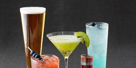 Liquid, Drink, Alcoholic beverage, Glass, Drinkware, Tableware, Classic cocktail, Barware, Cocktail, Distilled beverage,