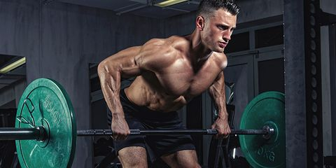 Weightlifter, Physical fitness, Weights, Human leg, Human body, Chin, Barbell, Shoulder, Chest, Wrist,