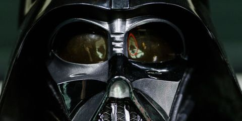 Darth vader, Personal protective equipment, Fictional character, Supervillain, Mask, Black, Space, Symmetry, Silver, Masque,
