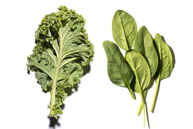 Which has more nutrients kale or spinach