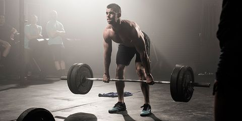Leg, Weights, Barbell, Physical fitness, Human leg, Room, Chin, Chest, Exercise equipment, Shoulder,