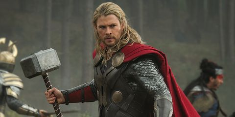 Fictional character, Armour, Costume, Thor, Viking, Breastplate, Beard, Knight, Glove, Facial hair,