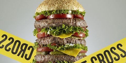Food, Hamburger, Big mac, Buffalo burger, Cheeseburger, Fast food, Whopper, Cuisine, Dish, Junk food,