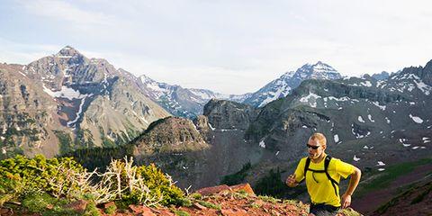 Mountainous landforms, Mountain range, Landscape, Mountain, People in nature, Highland, Outdoor recreation, Valley, Ridge, Adventure,
