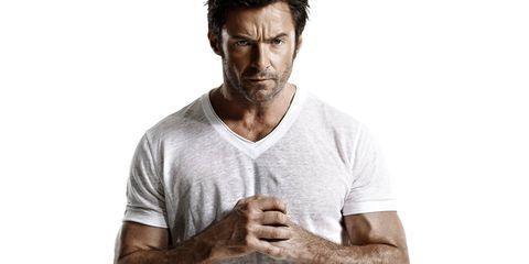 Facial hair, Neck, Chin, Arm, T-shirt, Beard, Shoulder, Human, Muscle, Elbow,
