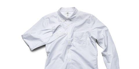 Clothing, Product, Collar, Sleeve, Dress shirt, Textile, White, Button, Embellishment, Fashion design,