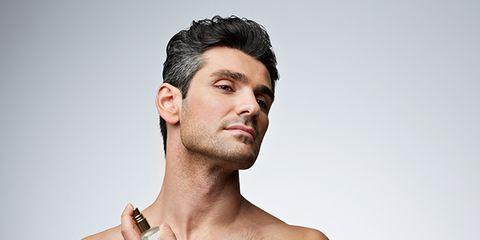 Human, Cheek, Hairstyle, Facial hair, Skin, Chin, Shoulder, Eyebrow, Chest, Barechested,