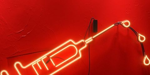 Red, Amber, Light, Electricity, Signage, Electronic signage, Neon sign, Neon, Cable, Electrical supply,