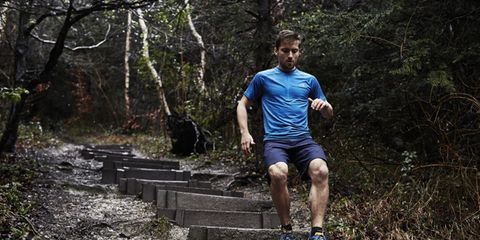People in nature, Shorts, Sneakers, Calf, Active shorts, Stairs, Outdoor shoe, Bermuda shorts, Woodland, Balance,