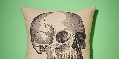 Bone, Skull, Cushion, Illustration, Drawing,
