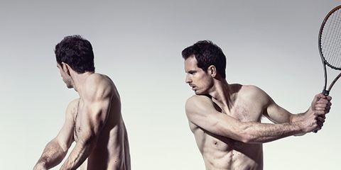 Arm, Skin, Human body, Shoulder, Elbow, Chest, Standing, Sports equipment, Joint, Human leg,