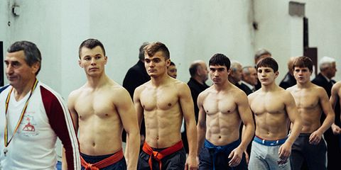 People, Human body, Chest, Standing, Barechested, Trunk, Abdomen, Muscle, Team, Waist,