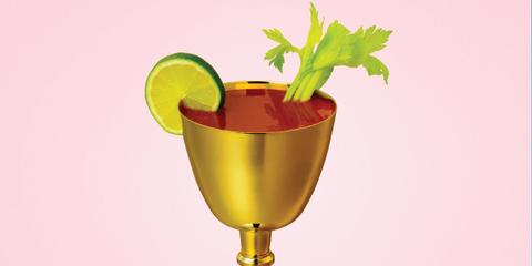 Leaf, Fruit, Cocktail, Cocktail garnish, Chalice, Brass, Produce, Ingredient, Citrus, Lemon,