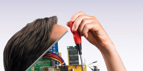 Hairstyle, Forehead, Eyebrow, Black hair, Circuit component, Wrist, Electronic component, Eyelash, Hair accessory, Nail,