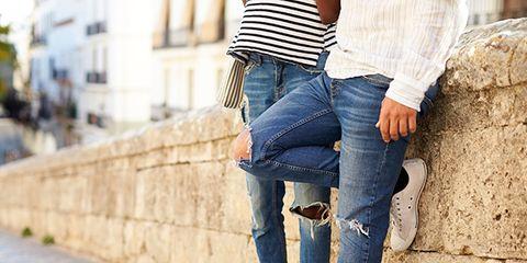 Clothing, Leg, Blue, Shoe, Denim, Trousers, Jeans, Textile, Outerwear, White,