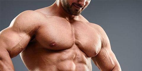 Bodybuilder, Skin, Human body, Chin, Chest, Shoulder, Barechested, Standing, Joint, Trunk,