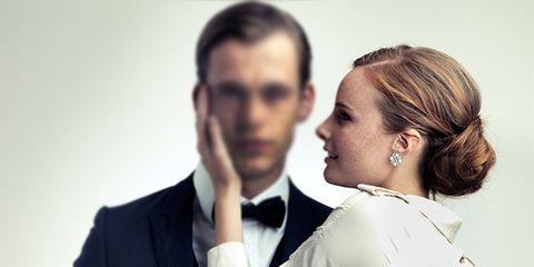 Ear, Sleeve, Collar, Coat, Outerwear, Suit, Formal wear, Interaction, Blazer, Love,