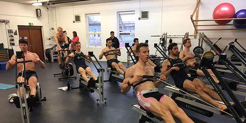Leg, Human leg, Human body, Exercise machine, Physical fitness, Room, Joint, Exercise, Exercise equipment, Chest,