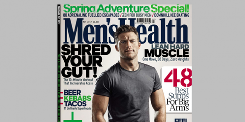 Sleeve, Human body, Text, Publication, Font, Facial hair, Muscle, Advertising, Magazine, Graphics,