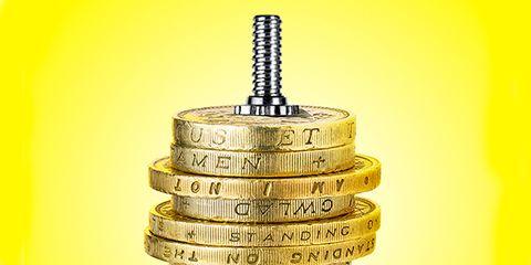 Coil spring, Currency, Saving, Metal, Dollar,