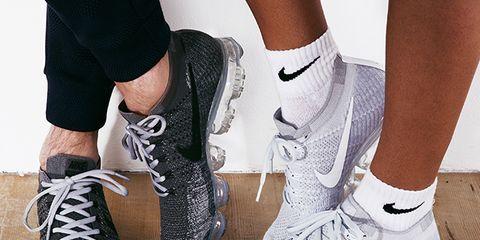Shoe, Footwear, White, Leg, Plimsoll shoe, Outdoor shoe, Sneakers, Ankle, Nike free, Human leg,