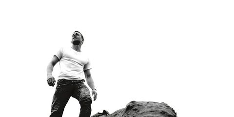Adventure, Bedrock, Rock, Monochrome, Outcrop, Monochrome photography, Goggles, Black-and-white, Outdoor shoe, Badlands,