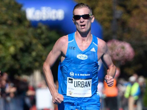 This runner finished a marathon, not realising his serious wardrobe malfunction