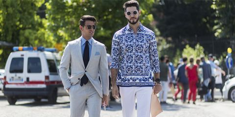 Street fashion, White, Fashion, Clothing, Suit, Jeans, Footwear, Blazer, Shoe, Eyewear,