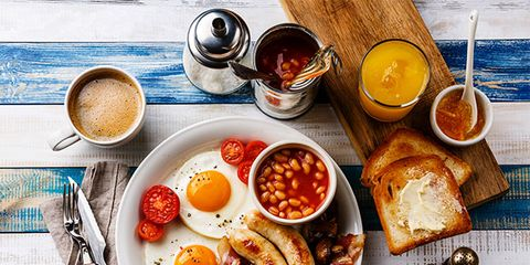 eggs, sausages, beans, healthy breakfast ideas